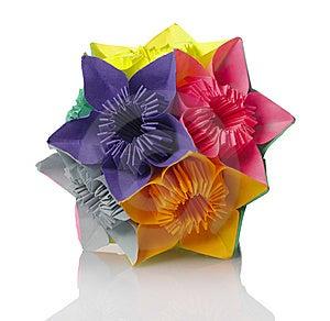Origami Kusudama Flower Stock Photography - Image: 14282282