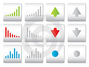 Web Buttons Chart Vector Stock Images - Image: 14282954
