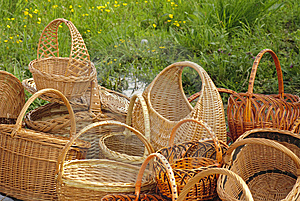 Basketry On Nature Stock Image - Image: 14282961