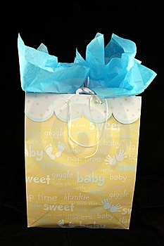 Gift Box For A Boy Stock Images - Image: 14283974