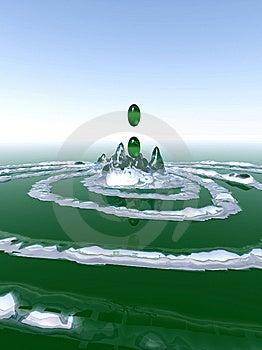 Green Splash Royalty Free Stock Photos - Image: 14284938