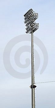 Stadium Light At Ballpark Royalty Free Stock Image - Image: 14285726