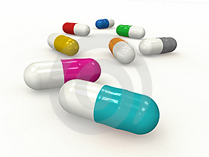 Medicine Color Capsules F1s Royalty Free Stock Photography - Image: 14286047
