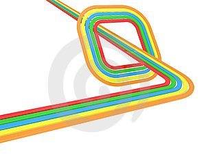 Background With Colour Lines Royalty Free Stock Image - Image: 14286256