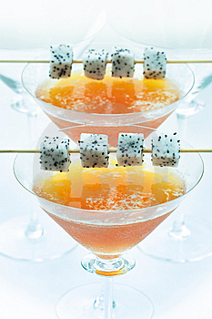 Peach And Dragonfruit Ice Blended Royalty Free Stock Images - Image: 14287509