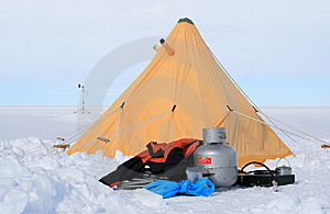 Ice Camp Royalty Free Stock Images - Image: 14287829