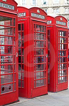 Typical Red London Phone Booth Stock Images - Image: 14288194