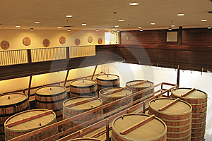 Winemaking And Oak Barrels Stock Image - Image: 14288281