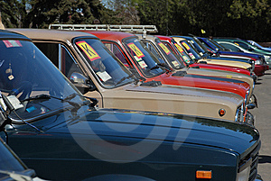 Row Of Cars Stock Photos - Image: 14288533