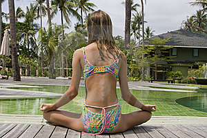 Girl Doing Yoga Royalty Free Stock Image - Image: 14288946