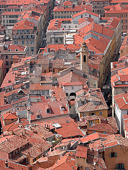 Rooftops Of Old Town, Nice Royalty Free Stock Image - Image: 14290936