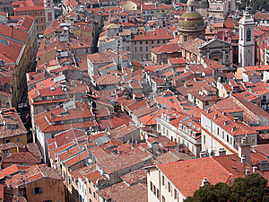Rooftops Of Old Town, Nice Stock Photography - Image: 14290952