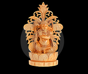 Wooden Figure Of God, Souvenir Gift, India Royalty Free Stock Photography - Image: 14291397