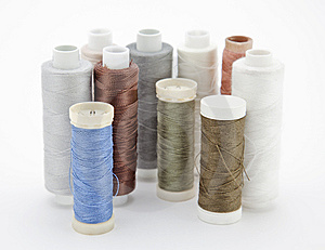 Spools Of Thread Royalty Free Stock Image - Image: 14291516