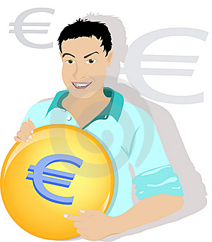 Euro Man Royalty Free Stock Photo - Image: 14291785