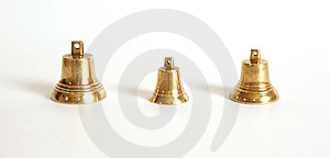 Small Brass Bells Royalty Free Stock Image - Image: 14292546
