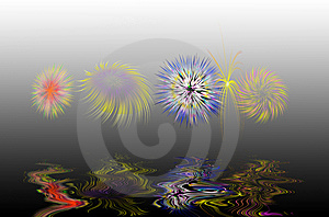 Festive Colorful Fireworks Stock Images - Image: 14293844