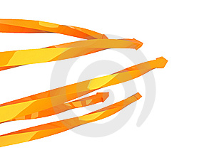 Five Twisted Arrows Royalty Free Stock Images - Image: 14294079