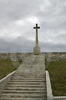 Cross Monument For Death In Falkland War Royalty Free Stock Images - Image: 14294619
