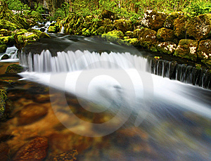Mountain Waterfall Stock Image - Image: 14295661