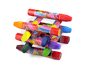 Color Pastel Wax Crayons Stock Images - Image: 14295884