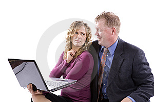 Wierd Idea Computer Royalty Free Stock Image - Image: 14296296