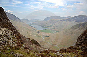 Buttermere From Haystacks Path Royalty Free Stock Photos - Image: 14297628