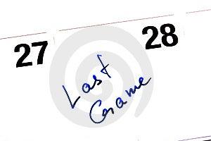 Reminder Last Game Stock Image - Image: 14297761