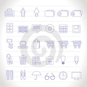 Business And Office Icons Stock Photography - Image: 14297852