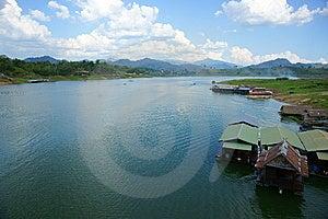 Floating Houses, Wangka, Mon Minority Village Stock Photography - Image: 14299882