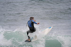 Surfer In The Wave Royalty Free Stock Photography - Image: 1431487