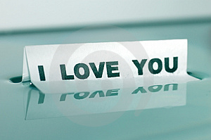 I LOVE YOU Message Concept Royalty Free Stock Photo - Image: 1431535