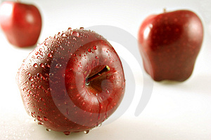 Three Apples With Shallow Depth Of Field Royalty Free Stock Photos - Image: 1436128