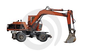 Excavator. Royalty Free Stock Images - Image: 14301559