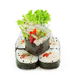 Vegetarian Roll Stock Photography - Image: 14302462