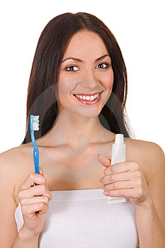 Beautiful Young Woman With A Toothy Smile Royalty Free Stock Images - Image: 14302819