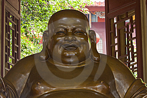 Maitreya Buddha Statue Royalty Free Stock Photos - Image: 14302848