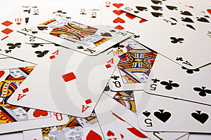 Poker Card Background Royalty Free Stock Photography - Image: 14303787
