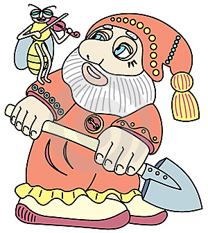 Good Gnome With A Shovel. Royalty Free Stock Photo - Image: 14303985