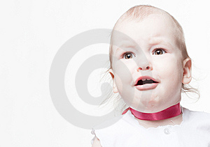 Closeup Portrait Of Crying Baby Stock Image - Image: 14304711