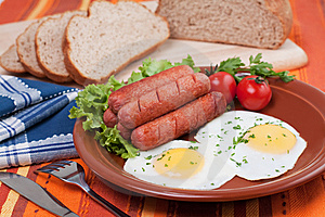 Eggs And Sausages Stock Photos - Image: 14307703