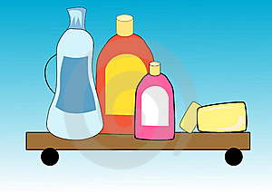 Illustration Background Of Cleaning Equipment Royalty Free Stock Photos - Image: 14309958