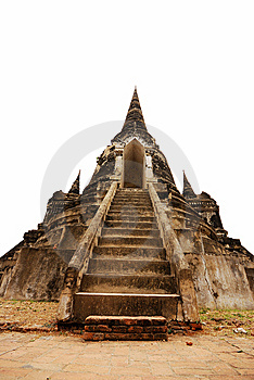 Ancient Temple Ruin In Ayuttaya, Thailand Stock Photo - Image: 14310810