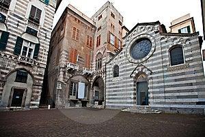 Small Square In Historic Centre Of Genoa Stock Photo - Image: 14311510