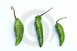 Three Green Chilli Stock Photos - Image: 14312743