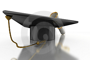 Bachelor's Hat And Diploma Royalty Free Stock Photography - Image: 14312817