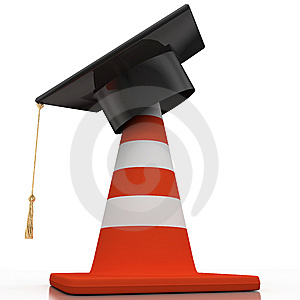 Bachelor's Hat And Cone Royalty Free Stock Photos - Image: 14312818