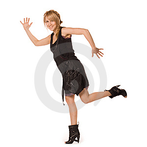 Attractive Spoiled Girl In Fashion Dress Royalty Free Stock Image - Image: 14312956