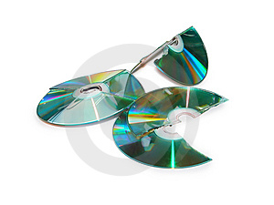 Lots Of Broken CD Royalty Free Stock Photo - Image: 14313475