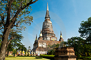 Ancient Temple In Ayutthaya. Royalty Free Stock Photo - Image: 14314525